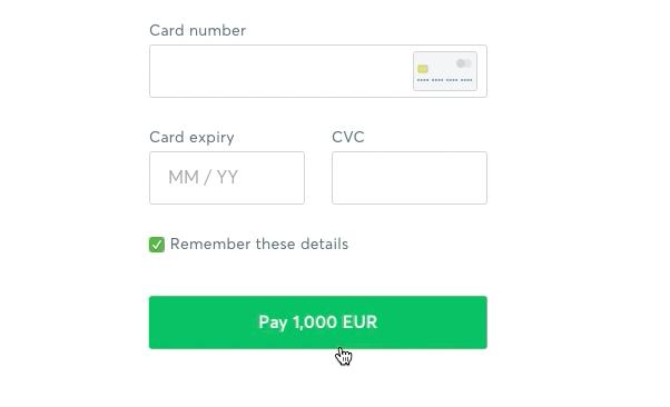 إدخال معلومات بطاقتك البنكية للدفع